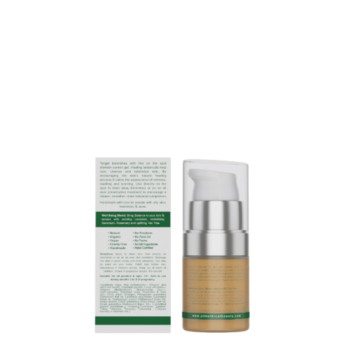 Vegan Blemish Gel, back