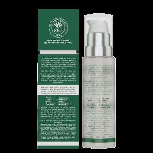 Vegan Skin Brightener bio gel, back