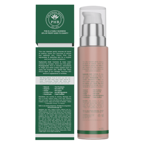 Superfood Vegan cleanser with pomegranate and hyaluronic acid, back