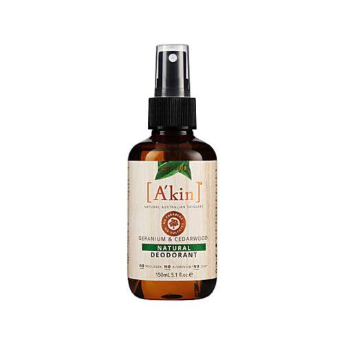 geranium and cedarwood vegan natural deodorant