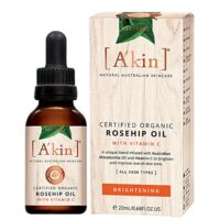 organic rosehip vegan facial oil with vitamin C
