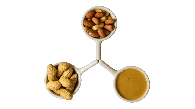 Nuts in containers
