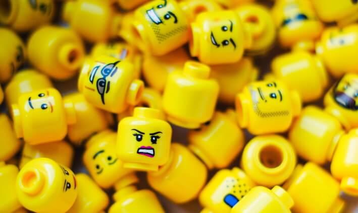 Plastic toys in landfill